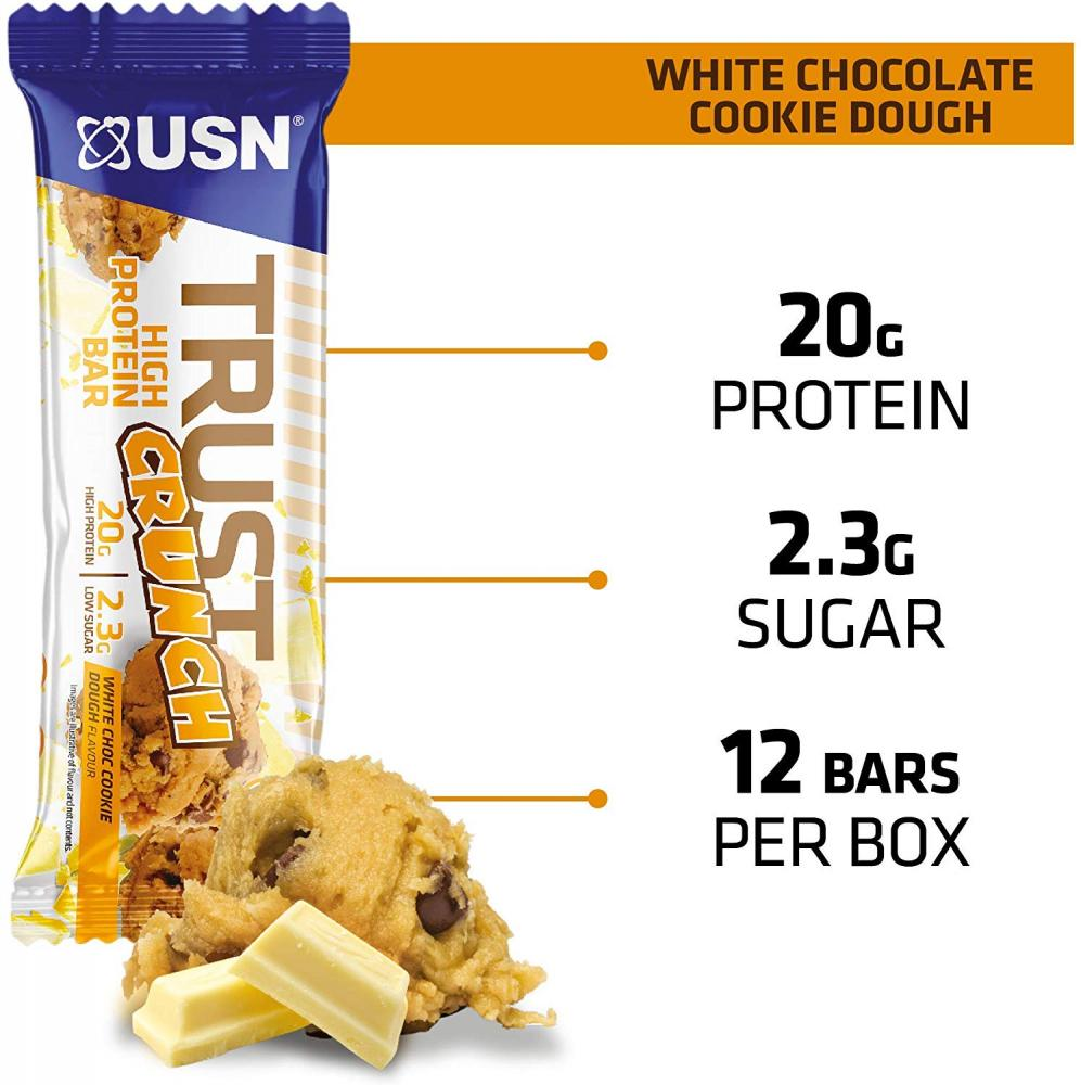 USN Trust Protein Bar White Chocolate Cookie Dough 60g