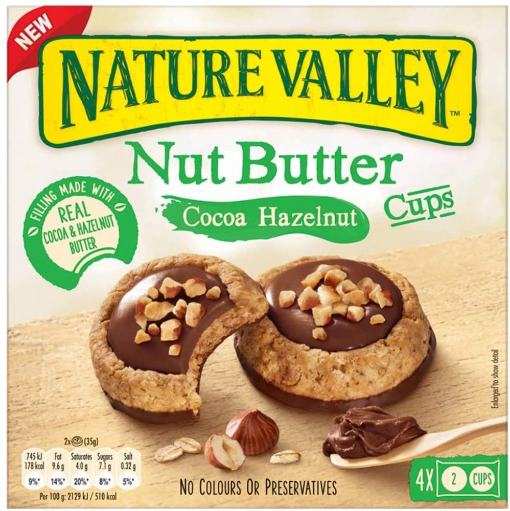 WEEKLY DEAL  Nature Valley Nut Butter Cocoa Hazelnut Cups 4 X 35g