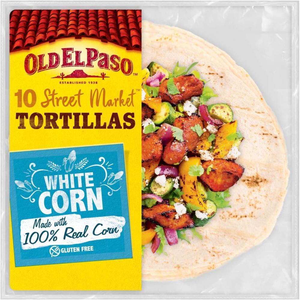 Old El Paso White Corn Gluten Free Tortilla Wraps 208g