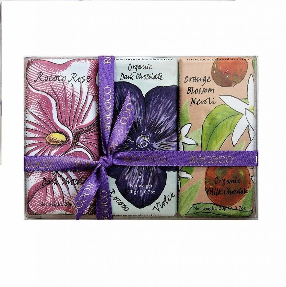Rococo Chocolates Floral Bee Bars 60g
